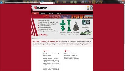Site Web VALCONCA - valconca.com.ve